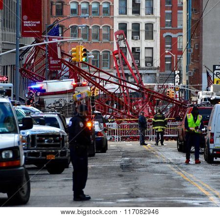 New York City Crane collapse