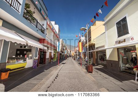 Candelaria, famous touristic town in Tenerife Canary islands Spain.