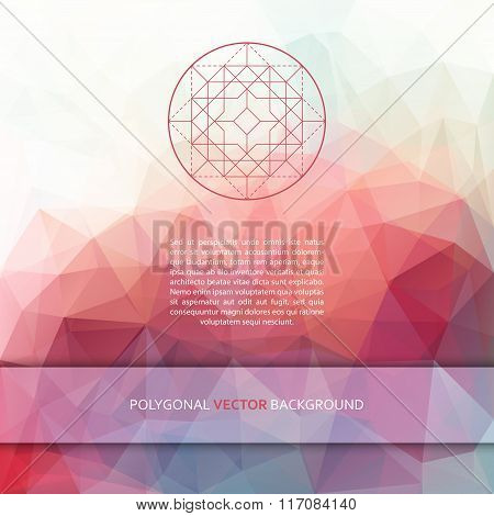 Vector square polygonal background