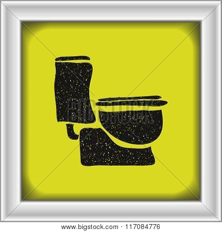 Simple Doodle Of A Toilet