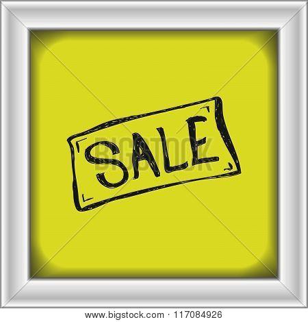 Simple Doodle Of A Sale Sign