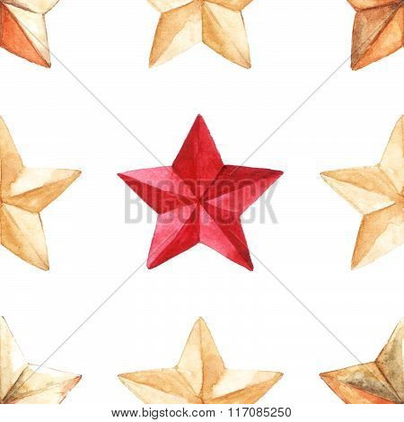 Star Medal Military Seamless Pattern Texture Background