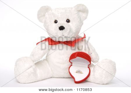 Bear Holding Engagement Ring 001