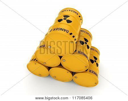 Yellow Radioactive Barrels