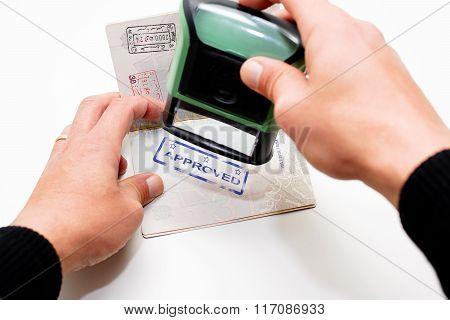 Stamping Passport