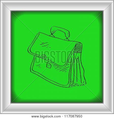 Simple Doodle Of A Briefcase