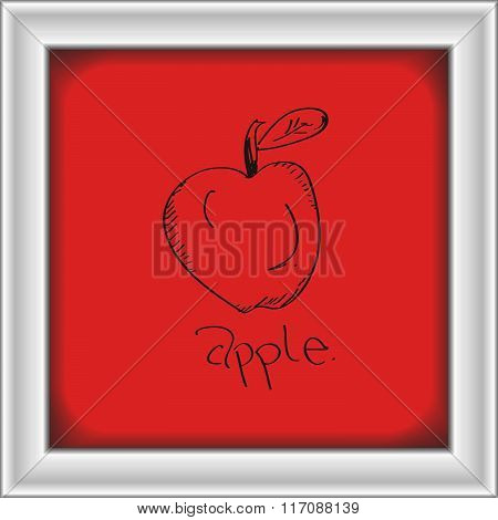 Simple Doodle Of An Apple