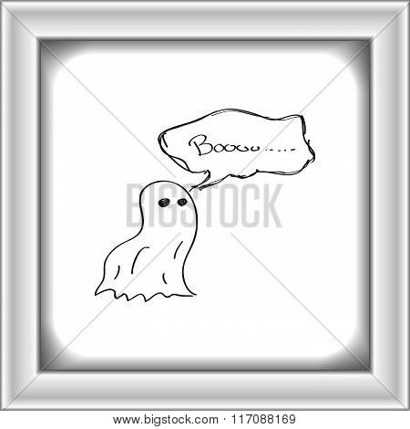 Simple Doodle Of A Ghost