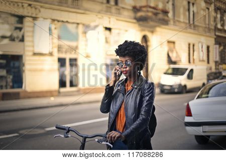 Talking on the phone