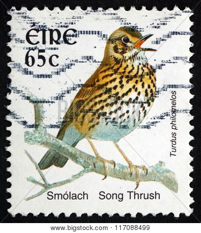 Postage Stamp Ireland 2004 Song Thrush, Bird