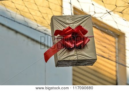 Hung Gift Boxes As Street Decoration 1