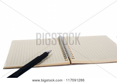 Spiral Notebook And Pollpoint Pen
