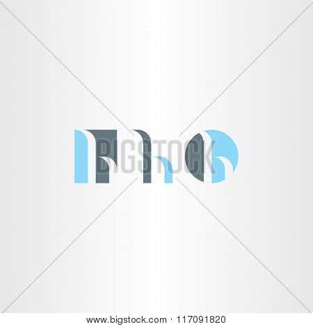 Small Letter H Logo Set Vector Icon