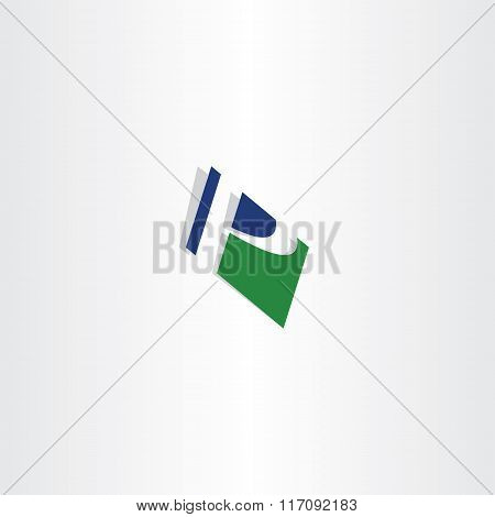 Green Blue Letter P Logo Sign P Vector Icon