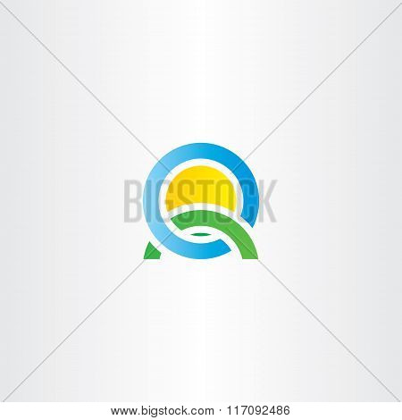 Nature Landscape Icon Letter Q Logo