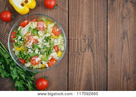 Vegetable Salad With Parmesan