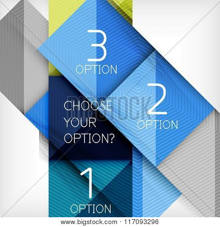 Paper style design templates, square abstract background, geometric layout