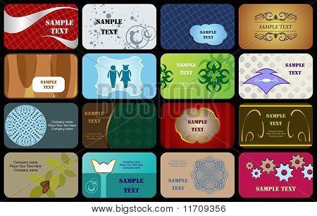 Conjunto de cartões de visita Horizontal variedade