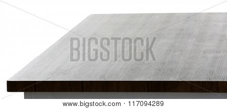 Stylish wooden table, isolated on white