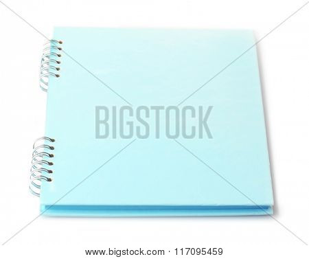 A spiral notebook, isolated on white background