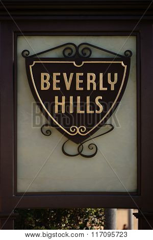 Entrance sign Beverly Hills