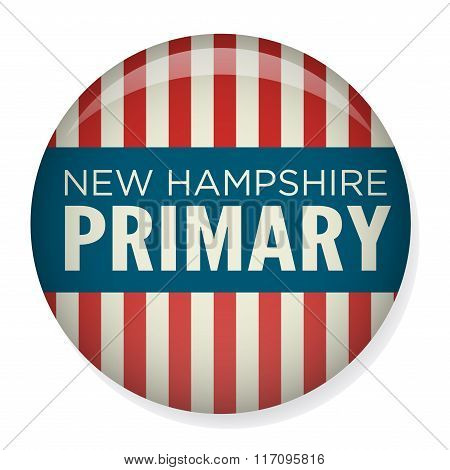 Retro or Vintage Style Primary and Caucus Campaign Election Pin Button or Badge.