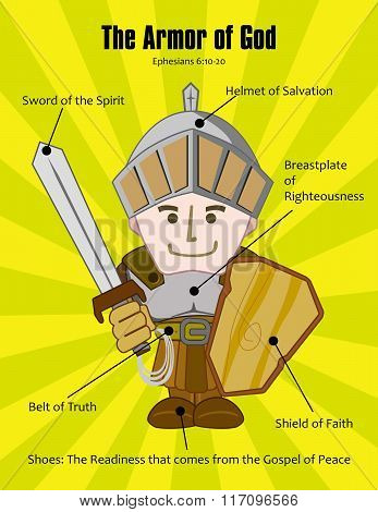 The Armor of God from Ephesians Chapter 6