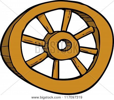 Cartoon Wooden Wheel