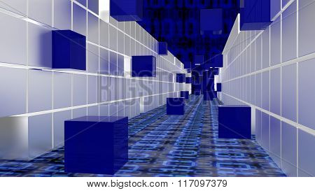 Tunnel Of Cubes Big Data Concept
