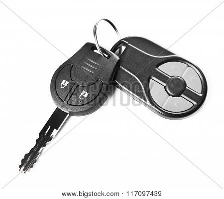 Car keys, isolated on white