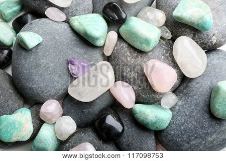 Semiprecious stones background