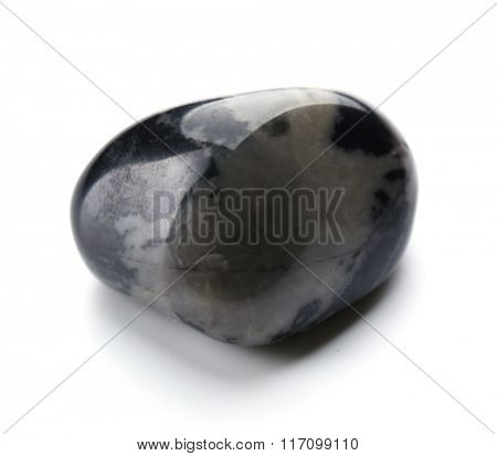 Black onyx isolated on white background