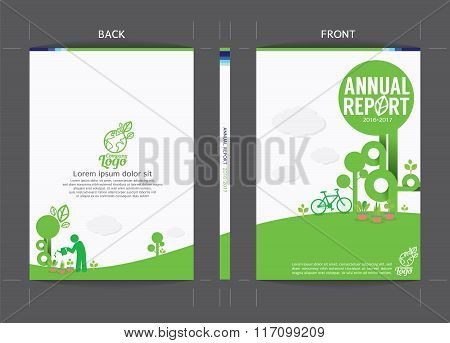 Green Cover Template.
