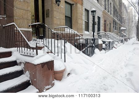 Manhattan New York after snowstorm
