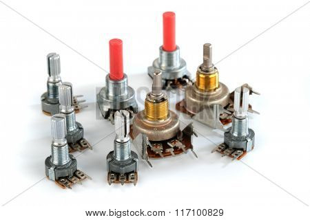 potentiometer variable resistor or rheostat.