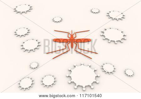 Brochure, Report Or Flyer Design Background. Virus Diseases Relative