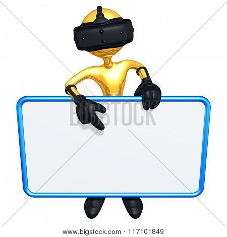 Virtual Reality Advertising Blank Sign
