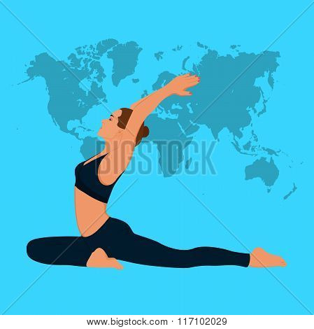 Woman stretching, fitness