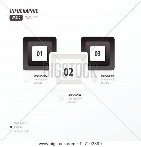 Infographics Four Rounded Rectangle Black And White