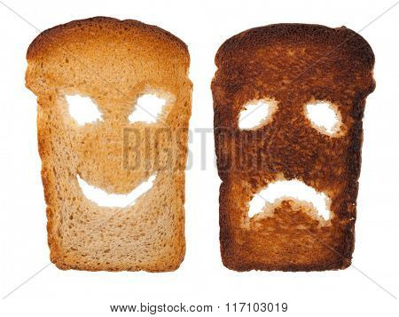 Smiley toast