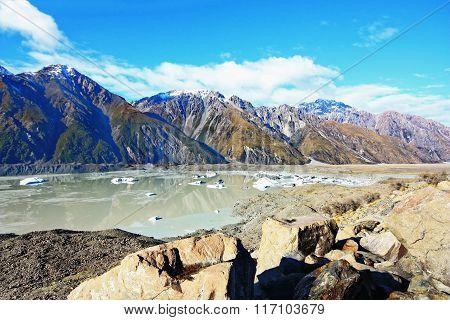 Melting Glacier In Nz