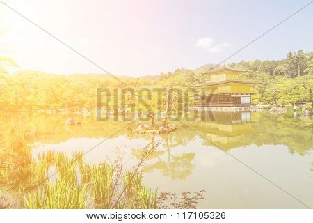 Kinkaku-ji Temple (The Golden Pavilion) in Kyoto, Japan.