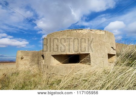bunker used in the Spanish civil war, Tosos, Saragossa, Aragon, Spain