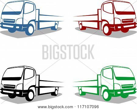 stock logo small truck