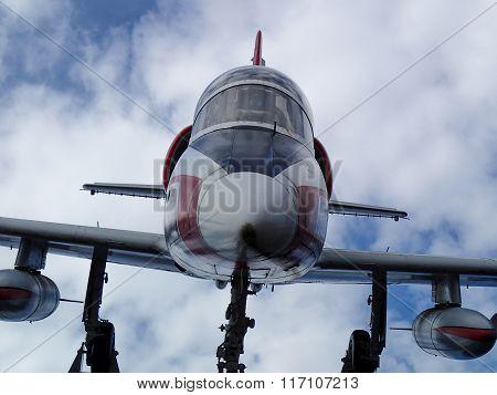 Oncoming Airplane Closeup