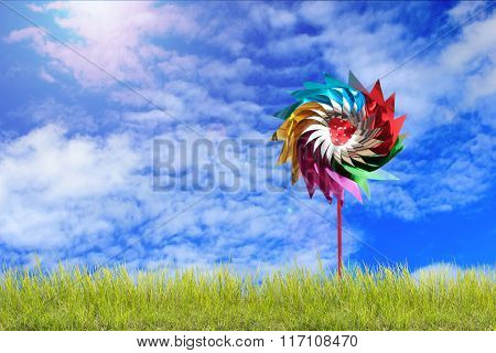 Beauty Summer, Abstract Environmental Backgrounds With Turbine.