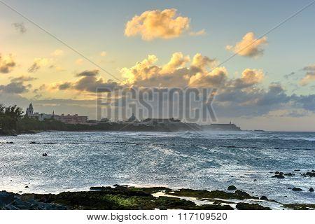Beach Along Old San Juan, Puerto Rico