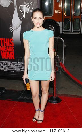 Christa B. Allen at the Los Angles Premiere of