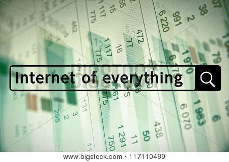 Internet of everything written in search bar