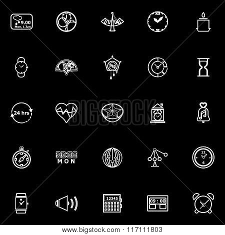 Design Time Line Icons On Black Background